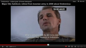 Major Hilo Sahilovic retired from bosnian army in 2008 about Srebrenica